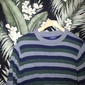 Men's Green Stripped Croft & Barrow Sweater